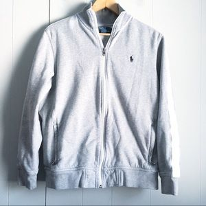 POLO RALPH LAUREN Half Zip Pullover Gray Mock Neck